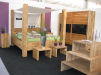 Bedroom suite from massive beech Natural