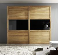 Wardrobe from massive beech Natural