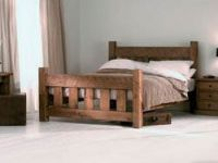 Bed from massive beech Natural B1