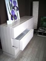 Gloss painted cabinet
