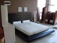 Bed from massive beech Wenge